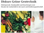 Diskurs Grüne Gentechnik / Download  bei BMVEL