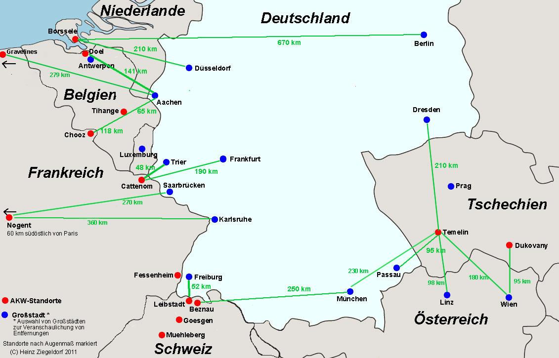Atomenergie, Kernenergie, Atomstrom, Atomkraftwerke: Daten ... - Atomkraftwerke In Deutschland Karte